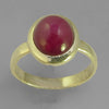 Ruby 8.2 ct Oval Cab Sterling Silver Ring, Size 9
