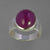 Ruby 10.3 ct Oval Cab Sterling Silver Ring, Size 8