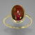 Rubellite Tourmaline 3.0 ct Oval Cab Sterling Silver Ring, Size 6.5