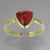 Rubellite Tourmaline 3.2 ct Shield Cut Cab Sterling Silver Ring, Size 8.5