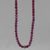 "Rhodolite Garnet Small Round Faceted 18"" Necklace, 38 ct"
