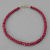 "Ruby Small Faceted Rondelle 8"" Bracelet, 30 ct"