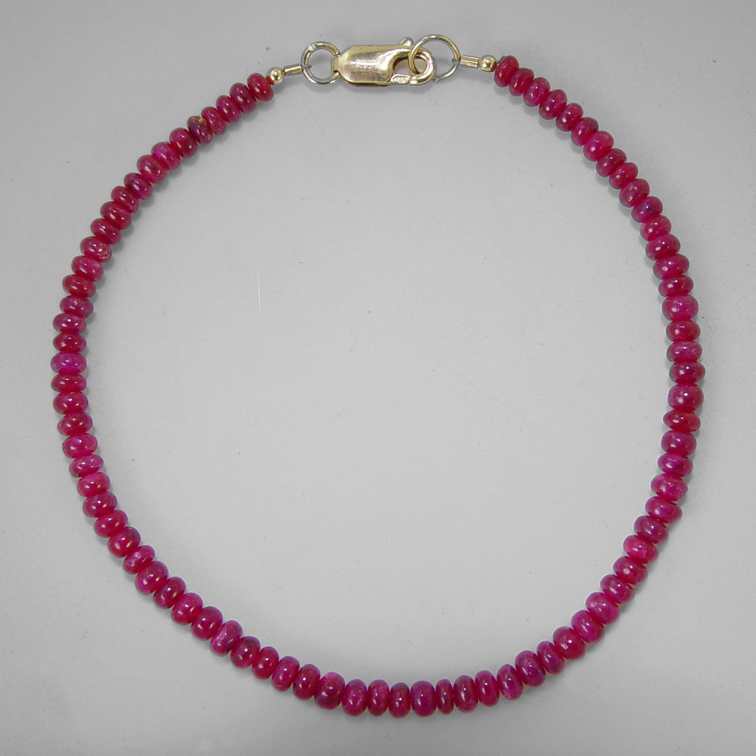 "Ruby Small Rondelle 8"" Bracelet, 25 ct"