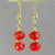 Ruby Faceted Rondelle Earrings