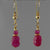 Ruby Faceted Oval and Rondelle Earrings