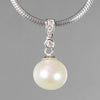 Pearl 8 ct 10 mm Round Freshwater Pearl With Sterling Silver Bail Pendant