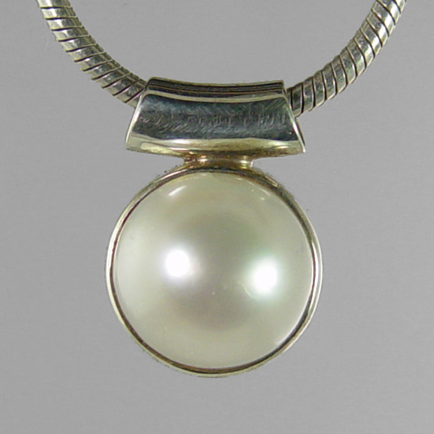 Pearl 8 ct Freshwater Pearl Sterling Silver Pendant