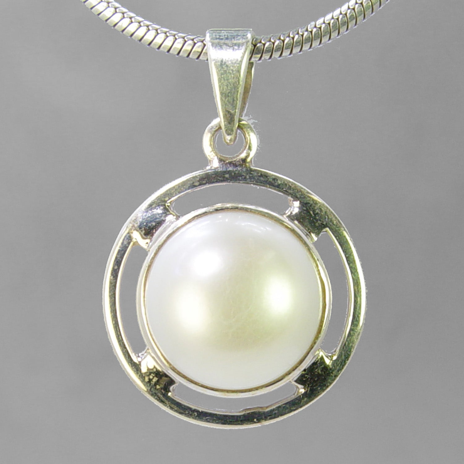 Pearl 14 ct Freshwater Pearl Sterling Silver Pendant