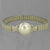 "Pearl 10.6 ct set in Sterling Silver with Stainless Steel Stretch Band 7.25"" Bracelet"