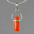 Red Coral 5.0 ct Cab Sterling Silver Pendant
