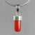 Red Coral 4.3 ct Cab Sterling Silver Pendant