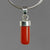 Red Coral 6.0 ct Cab Sterling Silver Pendant