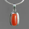 Red Coral 7.0 ct Cab Bezel Set Sterling Silver Pendant