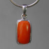 Red Coral 7.5 ct Cab Bezel Set Sterling Silver Pendant