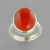 Carnelian 13 ct Cab Bezel Set Sterling Silver Ring, Size 8