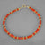 "Red Coral Branch and Round Bead 7.25 or 8"" Bracelet"