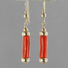 Red Coral Large Branch Earrings