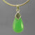 Chrysoprase 6.1 ct Pear Cab Sterling Silver Pendant