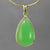 Chrysoprase 21.3 ct Pear Cab Sterling Silver Bezel Pendant