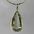 Green Quartz 16 ct Faceted Pear Bezel Set Sterling Silver Pendant