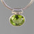 Peridot 3 ct Faceted Oval Bezel Set Sterling Silver Pendant