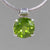 Peridot 5.6 ct Faceted Round Sterling Silver Pendant