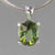 Green Tourmaline 4.07 ct Faceted Oval Sterling Silver Pendant