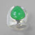 Chrysoprase 9 ct Pear Cab Bezel Set Sterling Silver Ring, Size 6.5,adj