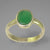 Emerald 2.3 ct Oval Bezel Set Sterling Silver Ring, Size 7.75