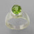 Peridot 3.0 ct Oval Fancy Bezel Set Sterling Silver Ring, Size 7