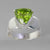 Peridot 3.65 ct Trillion Cut Sterling Silver Ring, Size 7