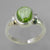 Peridot 4.1 ct Oval Cab Bezel Set Sterling Silver Ring, Size 8.25