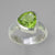 Peridot 5.3 ct Faceted Trillion Cut Bezel Set Sterling Silver Ring, Size 8.25