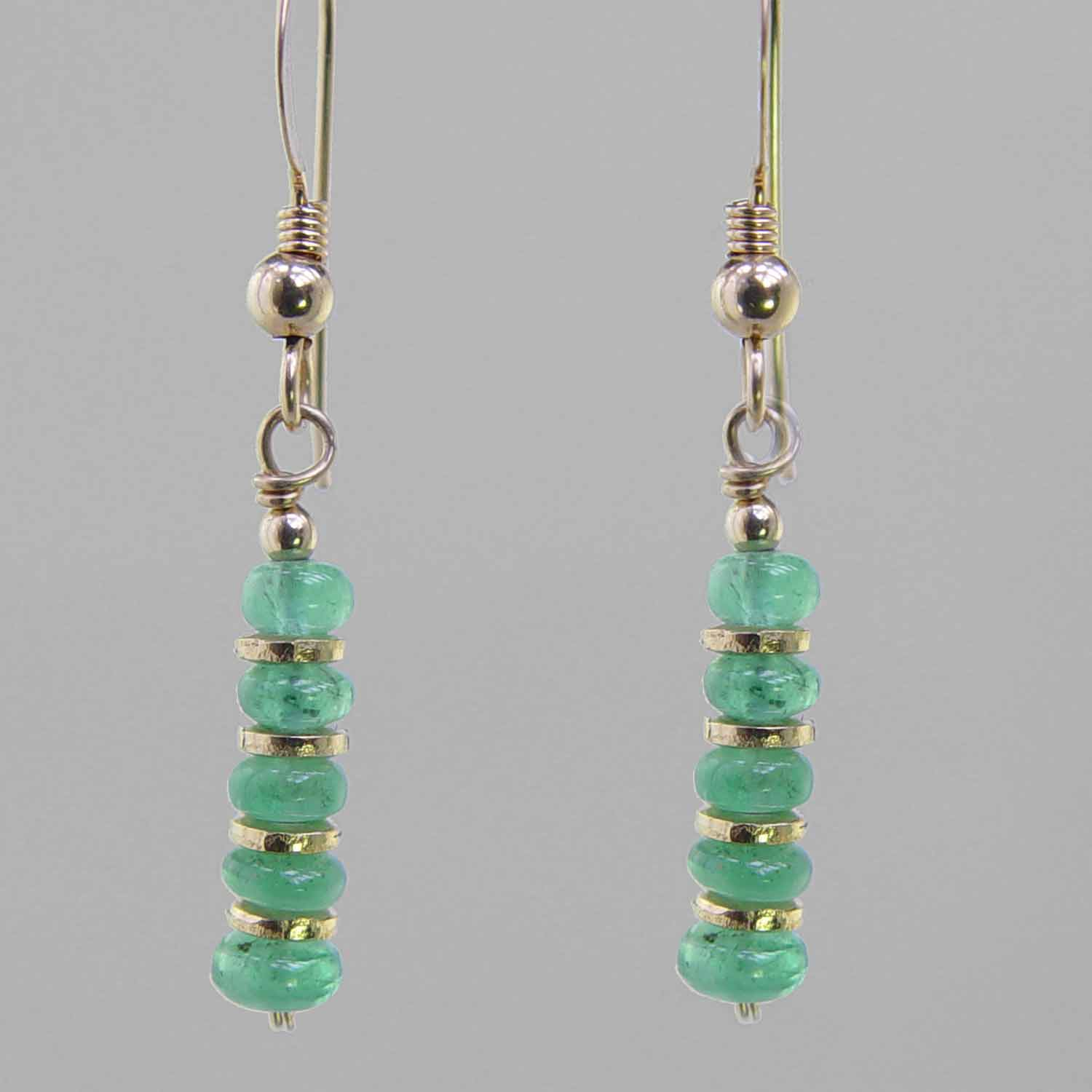 Emerald Rondelle Earrings
