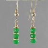 Emerald Faceted Rondelle Earrings