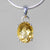 Citrine 5.7 ct Oval Prong Set Sterling Silver Pendant