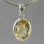 Citrine 6 ct Oval Bezel Set Sterling Silver Pendant