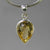 Citrine 6.5 ct Faceted Pear Bezel Set Sterling Silver Pendant