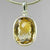 Citrine 10 ct Antique Emerald Cut Bezel Set Sterling Silver Pendant