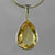 Citrine 9.95 ct Pear Bezel Set Sterling Silver Pendant