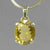 Citrine 10.6 ct Oval Prong Set Sterling Silver Pendant