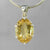 Citrine 11.55 ct Oval Prong Set Sterling Silver Pendant