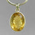 Citrine 14 ct Oval Fancy Bezel Set Sterling Silver Pendant