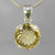 Citrine 18 ct Round Prong Set Sterling Silver Pendant