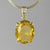 Citrine 24 ct Oval Prong Set Sterling Silver Pendant