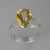 Citrine 3.74 ct Checkerboard Cut Oval  Prong Set Sterling Silver Ring, Size 7.5