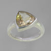 Citrine 3.8 ct Shield Cut Bezel Set Sterling Silver Ring, Size 7.5
