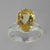 Citrine 4.7 ct Oval  Prong Set Sterling Silver Split Shank Ring, Size 7.5