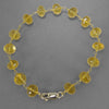 Citrine Faceted Rondelle Gold Filled Wire Bracelet