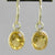 Citrine 6.5 ctw Faceted Oval Bezel Set Earrings